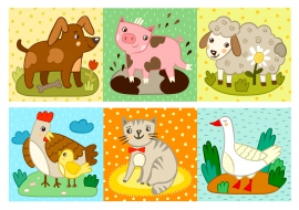 Дидактический материал по теме домашние животные