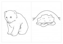 Раскраска берлога медведя зимой
