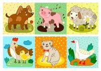 Домашние животные. Игра мемори