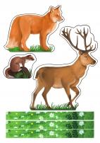 Дикие животные леса. Распечатайте готовые фигурки