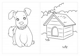 Раскраска будка собаки 189