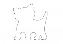 Шаблон котенка для аппликации