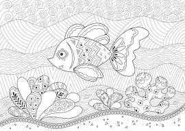 Рыбка. Раскраска с мелкими деталями — скачать и ...