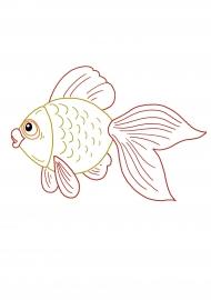 Золотая рыбка. Раскраска — скачать и распечатать. Животные ...