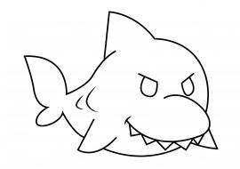 Картинка акулы. Раскраска для ребенка — скачать и ...