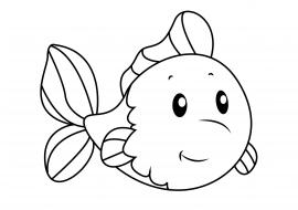 раскраска золотая рыбка скачать и распечатать животные