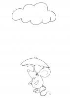 Картинка для детей дорисуй дождик