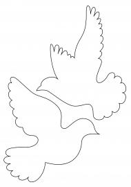 Голуби из бумаги своими руками шаблоны распечатать фото 823