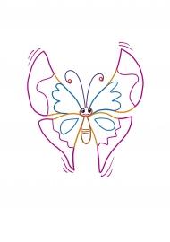 Бабочка. Раскраска с цветным контуром — скачать и ...