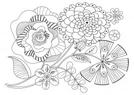 Раскраска с цветами. Арт-терапия для детей и взрослых ...