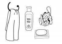 Раскраски с предметами личной гигиены для детей
