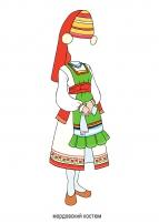 все мордовский костюм женский картинки рисунок интересных путешествий