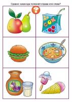 и рисунки пища вредная здоровая