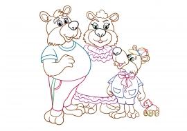 Раскраска к сказке Три медведя — скачать и распечатать ...