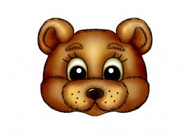 Распечатать маску медведя на голову