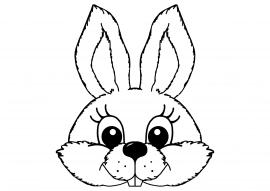 Раскраски масок зайцев