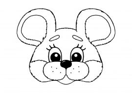 Раскраски маска мышки