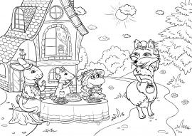 Иллюстрация к сказке «Теремок». Раскраска — скачать и ...