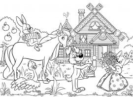 Раскраска по сказке «Кошкин дом» — скачать и распечатать ...