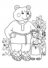 Маша и медведь. Раскраска к сказке — скачать и распечатать ...