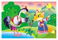 Иллюстрация к сказке «Лиса и журавль»