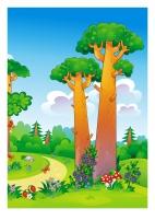 Картинка лес. Фон для декораций