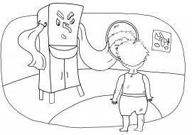 Картинка мойдодыра. Раскраска для детей — скачать и ...