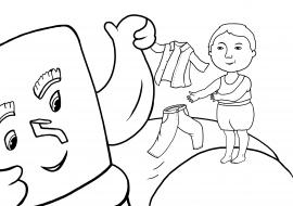 Раскраска по сказке «Мойдодыр». К.И.Чуковского