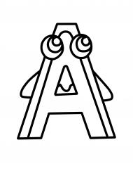 Буква А. Раскраска — скачать и распечатать. Развитие речи ...