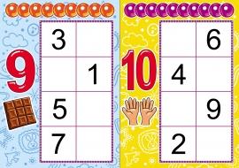 Дидактическая игра по ФЭМП «Составить число из двух меньших чисел»