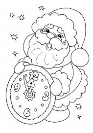 «Пять минут». Новогодняя раскраска для детей — скачать и ...
