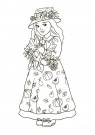 Девушка-осень. Картинка для детей — скачать и распечатать ...