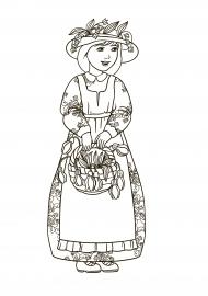 Раскраска Девушки-весны — скачать и распечатать. Времена ...