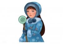 Зима. Картинка для распечатывания формата А3. Часть 1