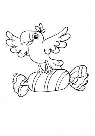 попугай раскраска ко дню рождения скачать и распечатать