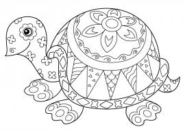 Черепаха. Раскраска - антистресс — скачать и распечатать ...