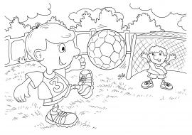 раскраска на тему футбола скачать и распечатать человек
