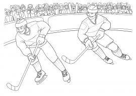 хоккей раскраска скачать и распечатать человек спорт и