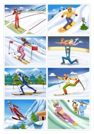 Зимние виды спорта Воспитателям детских садов школьным учителям  Зимние виды спорта