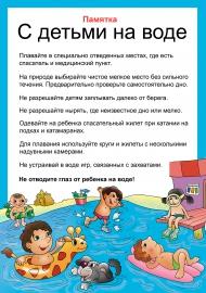Памятка «С детьми на воде»