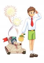 Иллюстрация к 23 февраля и ко Дню Победы.