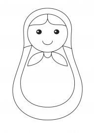 Матрешка. Раскраска для малышей — скачать и распечатать ...