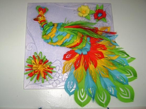 Жар-птица своими руками из бумаги