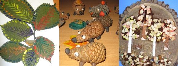 Детские поделки из природных материалов для садика 49