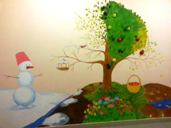 Дерево времен года в детском саду своими руками 901