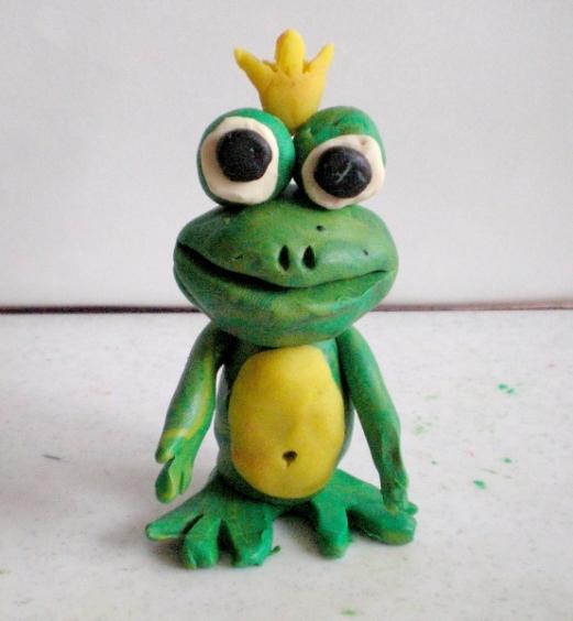 лягушка царевна из пластилина картинки разработать отрисовать для