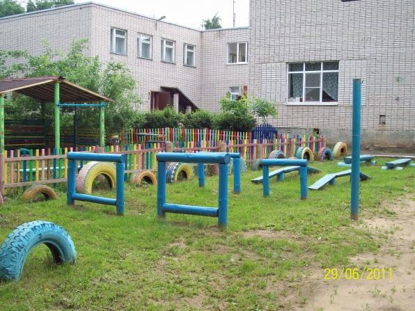 Спортивный участок в детском саду