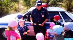 Месячник дорожной безопасности прошёл в куртамышском детсаду