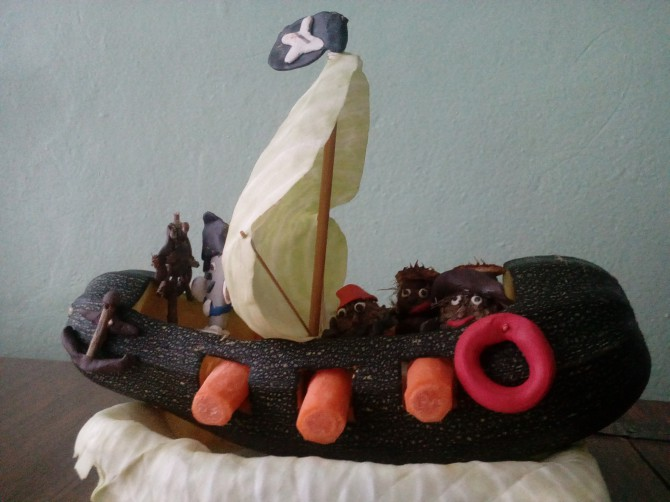 бассейн корабль из кабачка своими руками пошаговое фото понятие