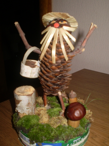 Домик лесовичка из природного материала своими руками 61